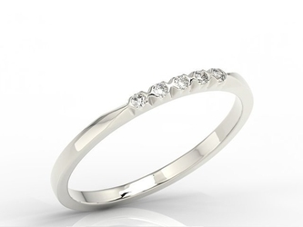 Pierścionek z białego złota z diamentami 0,07 ct wzór bp-3507b