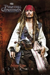 Piraci z Karaibów Jack Sparrow - plakat