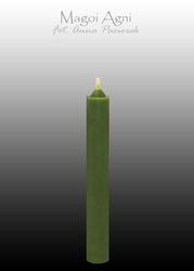 Świeca z wosku 9x1,2cm - zielona 5 sztuk
