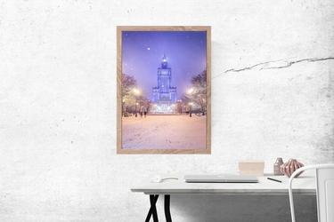 Zimowy pałac - plakat premium wymiar do wyboru: 50x70 cm