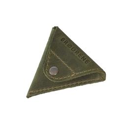 Skórzana bilonówka portfel na monety brodrene cw01 zielony