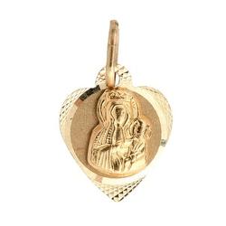 Staviori wisiorek. medalik. żółte złoto 0,333. szerokość 10 mm. długość 16 mm.