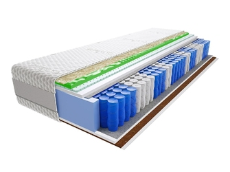 Materac kieszeniowy aisza visco molet 70x210 cm średnio  twardy lateks kokos profilowane visco memory