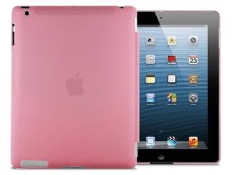 Przezroczyste etui back cover do ipad 2  3  4 różowe - różowy