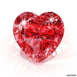Naklejka samoprzylepna diament w kształcie serca