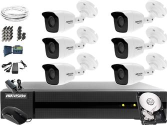 Monitoring dzień i noc dużych powierzchni, sklepu, magazynu hikvision hiwatch turbo hd, ahd, cvi hwd-7108mh-g2, 6 x hwt-b140-m, 1tb, akcesoria