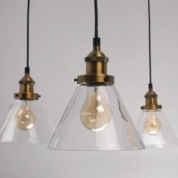 Lampa wisząca industrialna - pająk - mosiężne, szklane klosze mw-light loft 392017805