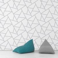 Modern blocks - tapeta na ścianę , rodzaj - próbka tapety 50x50cm