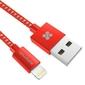 Kabel USB 2.0, USB A M- Apple Lightning M, 1.2m, okrągły, czerwony, Promate, oplot