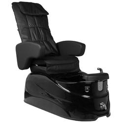 Fotel pedicure spa as-122 czarny z funkcją masażu