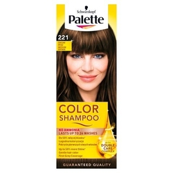 Palette color shampoo, koloryzujący szampon, 221 średni brąz