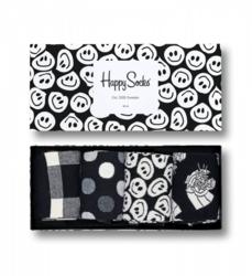 Giftbox 4-pack skarpetki Happy Socks Black and White - XBLW09-9003