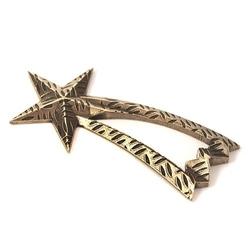 Metalowa ozdoba gwiazda betlejemska 7x3,4 cm
