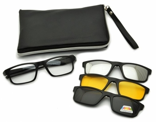 Oprawki okulary zerówki w zestawie z trzema nakładkami na magnes tr2256
