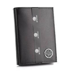 Skórzany męski portfel betlewski bpm-ke-62 czarny