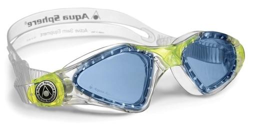 Aquasphere okulary kayenne junior niebieskie szkła, transparent-lime