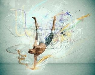 Fototapeta nowoczesne tancerz