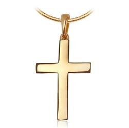 wisiorek krzyżyk złoty elegancki