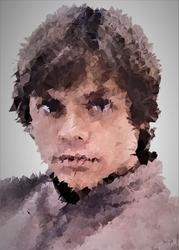 Polyamory - luke skywalker, gwiezdne wojny star wars - plakat wymiar do wyboru: 30x40 cm