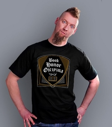 Book honor ojczyzna ml t-shirt męski czarny l