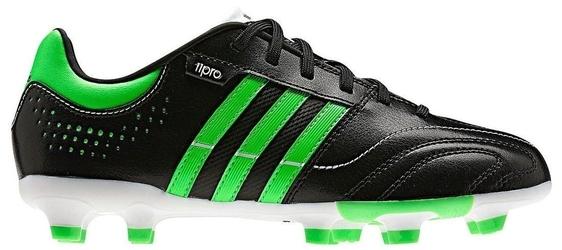 Buty piłkarskie adidas 11 nova trx fg czarno-zielone