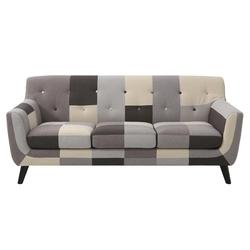 Sofa trzyosobowa patchwork grey mix