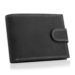 Męski skórzany portfel betlewski bpm-nd-60 czarny