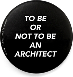 Przypinka czarna Badge To Be or Not To Be