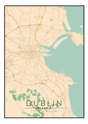 Dublin mapa kolorowa - plakat Wymiar do wyboru: 20x30 cm