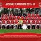 Arsenal Londyn - Drużyna 1516 - plakat