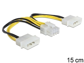 Delock kabel zasilający 8pin epsf-2x molex 4pin