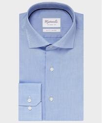 Elegancka niebieska koszula ze splotem oxford michaelis z kołnierzem włoskim 39