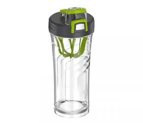Shaker thermos na odżywki sportowe 710 ml bezbarwnysiwy