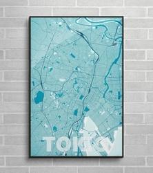 Tokio - błękitna mapa