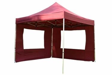 Namiot ogrodowy 3x3 m ekspresowy, bordowy pawilon handlowy ze ściankami