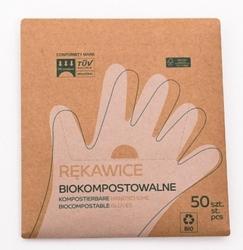 Rękawiczki jednorazowe – kompostowalne – 50 szt. m
