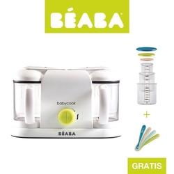 Beaba zestaw babycook® plus neon z 4 łyżeczkami i kompletem słoiczków