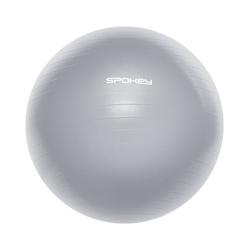 Piłka gimnastyczna fitball iii 75 cm szara - spokey - szary  75 cm