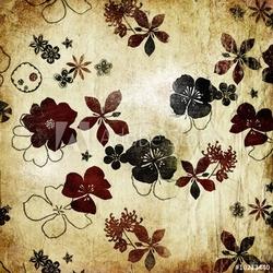 Obraz na płótnie canvas dwuczęściowy dyptyk starodawny stary papier z kwiatami