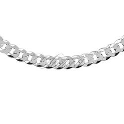 Pancerka diamentowana płaska pr. 925 rodowana - 7,5 mm
