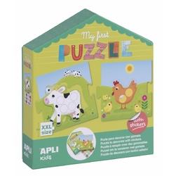 Moje pierwsze puzzle z naklejkami apli kids