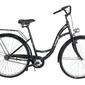 Rower vintage łabędż 24 różowy-dodatki białe