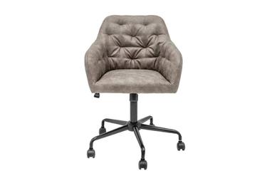 Tapicerowane krzesło biurowe dutch  szaro-beżowe