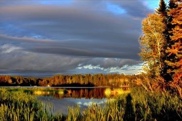 Fototapeta jezioro późnym popołudniem fp 1401