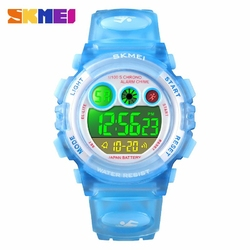 Zegarek dziecięcy SKMEI 1451 elektroniczny blue - LIGHT BLUE