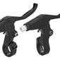 Dźwignie hamulca v-brake 2-3 palce aluminiowe para czarne