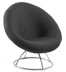 Designerski fotel na metalowej podstawie garcia