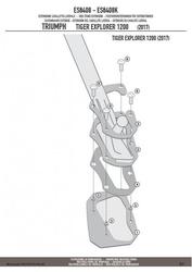 Givi es6408 poszerzenie dodatkowe stopki triumph