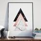 Plakat w ramie - triple triangle , wymiary - 30cm x 40cm, ramka - biała