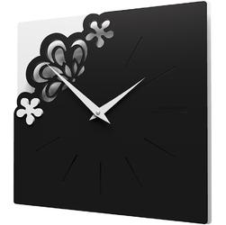 Kwadratowy zegar na ścianę Merletto CalleaDesign czarny 56-10-1-5